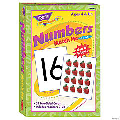 Match Me® Cards, Numbers 0-25 - 52 cards per pack, 6 packs