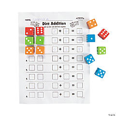 Math Dice Activity Idea