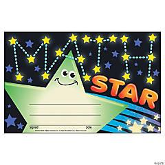 Math Star Award Certificate - 30 per pack, 12 packs