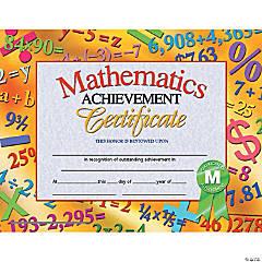 Mathematics Achievement Certificate, 30 per Pack, 6 Packs