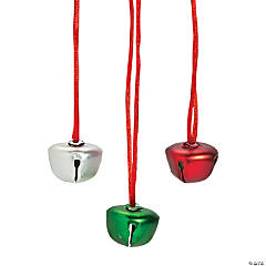 Matte Finish Jingle Bell Necklaces