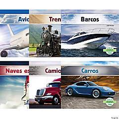 Medios de transporte (Transportation), Spanish Book Set, Set of 6