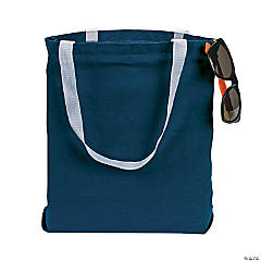 Medium Blue Tote Bags