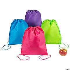 Medium Bright Color Drawstring Bags