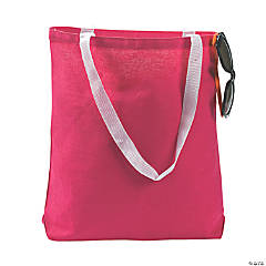 Medium Dark Pink Tote Bags
