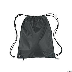 Medium Drawstring Backpacks - Black