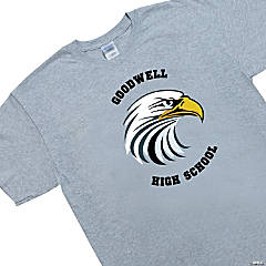 Medium Gray Custom Photo Team Spirit Shirt - Arched Lettering