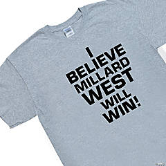 Medium Grey Personalized Team Spirit T-Shirt - I Believe...
