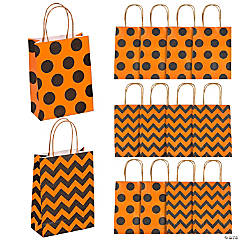 Medium Halloween Pattern Kraft Paper Gift Bags