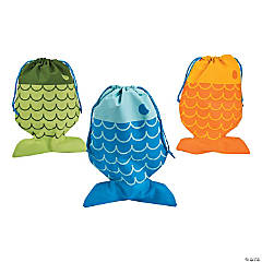 Medium Little Fisherman Drawstring Bags