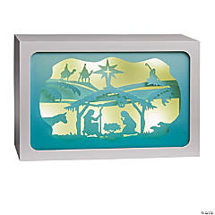 Medium Nativity Light-Up Shadow Box