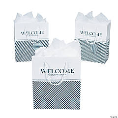 Medium Nautical Welcome Wedding Gift Bags with Tags