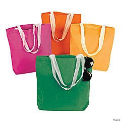 Medium Neon Canvas Tote Bags