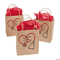 Medium Nurse Kraft Paper Gift Bags