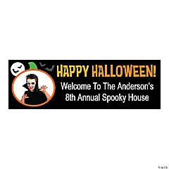 Medium Personalized Happy Halloween Banner