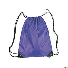 Medium Purple Drawstring Backpacks