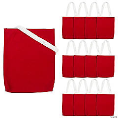 Medium Red Canvas Tote Bags