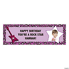 Medium Rock Star Diva Custom Photo Banner