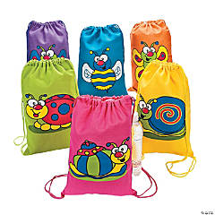 Medium Spring Bug Canvas Drawstring Bags