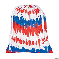 Medium Tie-Dyed Patriotic Drawstring Bags