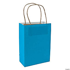 Medium Turquoise Kraft Paper Bags
