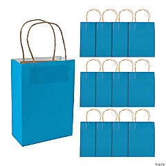 Medium Turquoise Kraft Paper Gift Bags