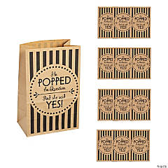 Medium Wedding Popcorn Kraft Paper Treat Bags