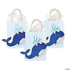 Medium Whale Kraft Paper Gift Bags