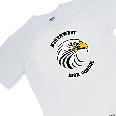 Medium White Custom Photo Team Spirit Shirt - Arched Lettering