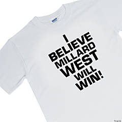 Medium White Personalized Team Spirit T-Shirt - I Believe...