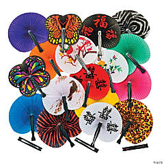 Mega Folding Hand Fan Assortment