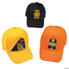 Melanoma Awareness Baseball Caps Assortment