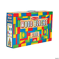 Melissa & Doug® 200 Piece Wood Building Blocks Set