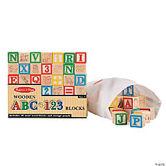 Melissa & Doug® ABC & Number Building Blocks Set