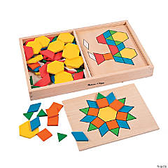 Melissa & Doug® Pattern Blocks & Boards