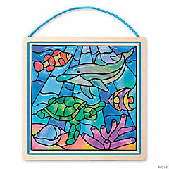 Melissa & Doug Peel & Stick Gel Ocean Stained Glass Kit