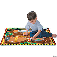 Melissa & Doug Play Rug Set: Construction Vehicles