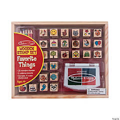 Melissa & Doug<sup>&#174; </sup>Favorite Things Wooden Stamp Set