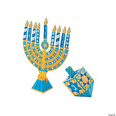 Melissa & Doug<sup>&#174;</sup> Glitter Menorah & Dreidel Craft