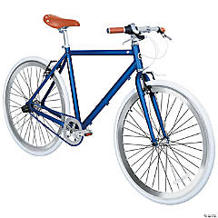 Men's 3-Speed 700c Urban Commuter Bicycle: Deep Blue