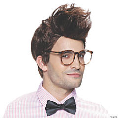 Men's Brown Hipster Wig