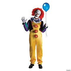 menu0027s deluxe pennywise clown costume