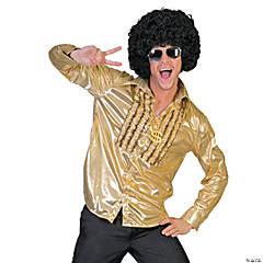 Men's Gold Saturday Night Fever Shirt Costume