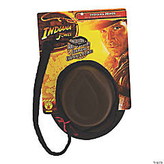 Men's Indiana Jones Hat & Leather Whip Set