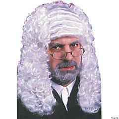 Men's White Judge Wig