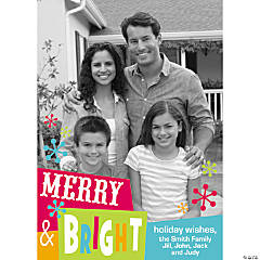 Merry & Bright Custom Photo Christmas Cards