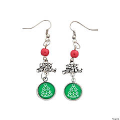 Merry Christmas Earrings Craft Kit