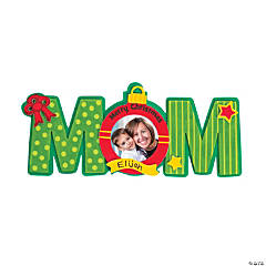 Merry Christmas Mom Picture Frame Magnet Craft Kit