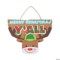 Merry Christmas Y'all Sign Craft Kit