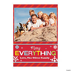 Merry Everything Custom Photo Christmas Cards